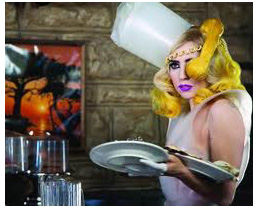 Lady Gaga in her Telephone video
