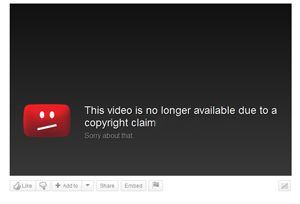 YouTube Copyright Claim