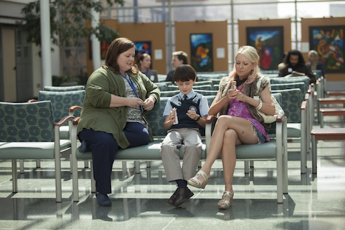 (L-R) MELISSA McCARTHY, JAEDEN LIEBERHER and NAOMI WATTS star in ST. VINCENT