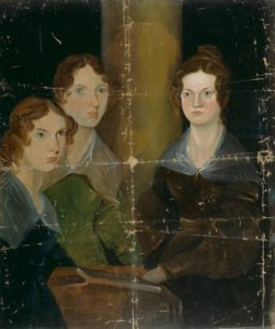 Branwell Brontë's famous painting of himself and his three sisters, currently on display at the National Portrait Gallery
